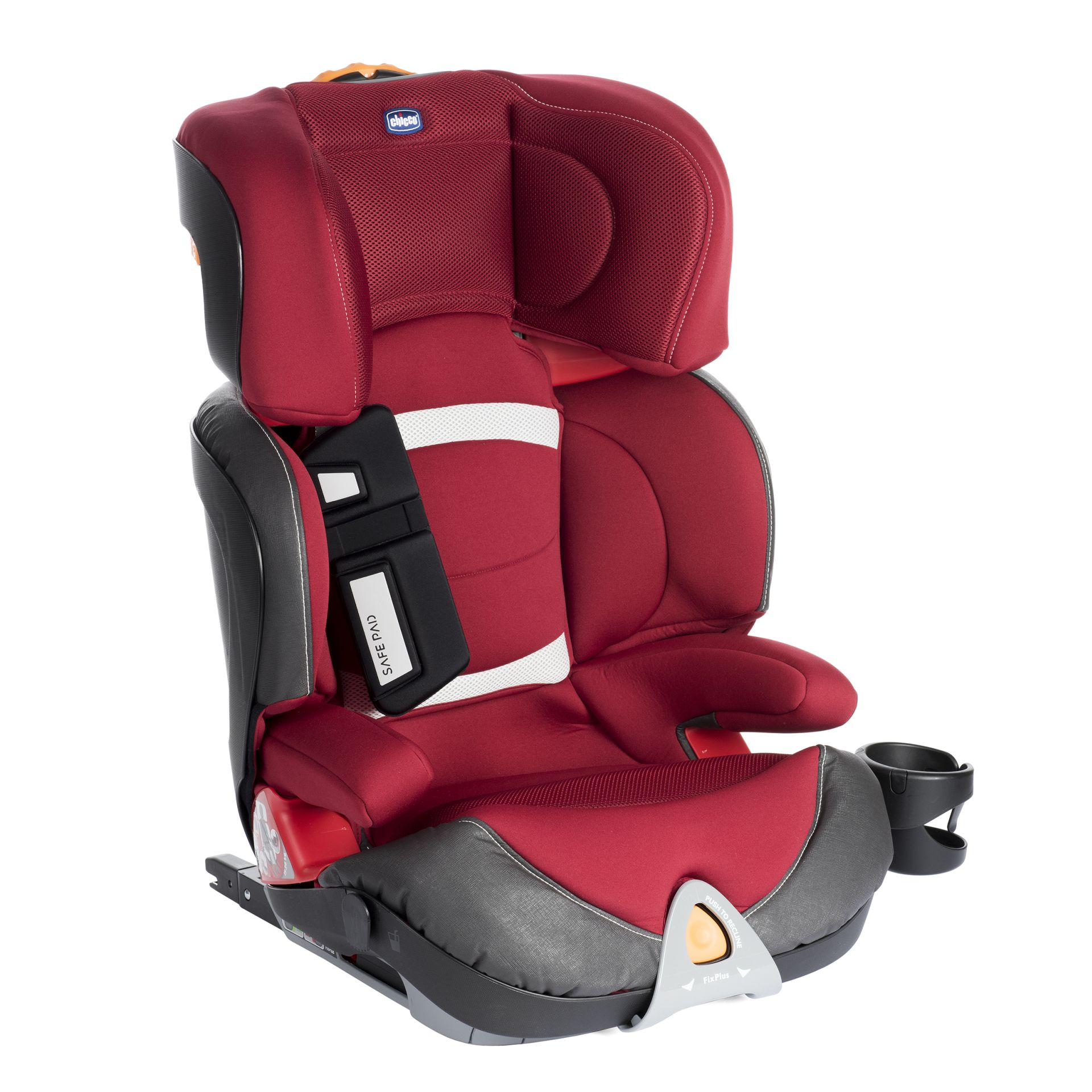Red Chicco Car Seat >> Chicco Child Car Seat Oasys 2-3 Evo FixPlus 2018 Red Passion - Buy at kidsroom | Car Seats