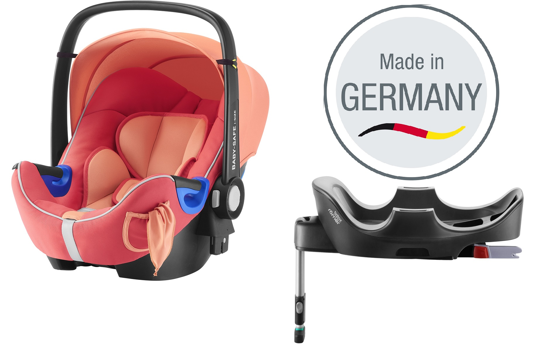 Britax Rmer Infant Car Seat Baby Safe I Size Including Flex Base Coral Peach 2018