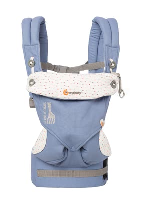 "Ergobaby 360° baby carrier ""Sophie La Girafe – festival"" - * The baby carrier offers four carrying positions – for a world full of adventures."