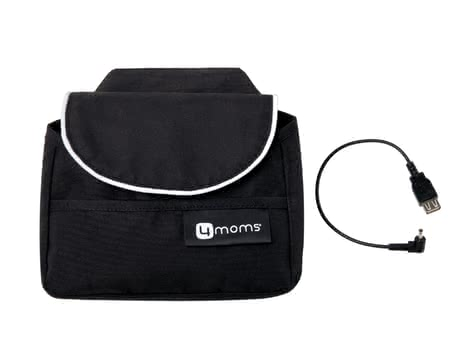 4moms Bag with USB Charge Cable - * 4moms bag with USB charger – Charge your phone directly over the 4moms origami stroller – the bag is for stowing personal things.