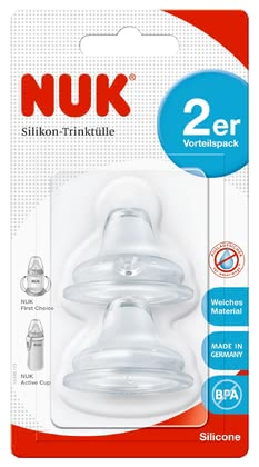 NUK FIRST CHOICE Soft Silicone Spout, 2pcs -  * The NUK Soft Spout is made of comfortably soft, BPA-free silicone and can be combined with any NUK FIRST CHOICE Baby Bottle as well as any NUK Active Cup. The material used is particularly durable, aesthetically pleasing and odourless.