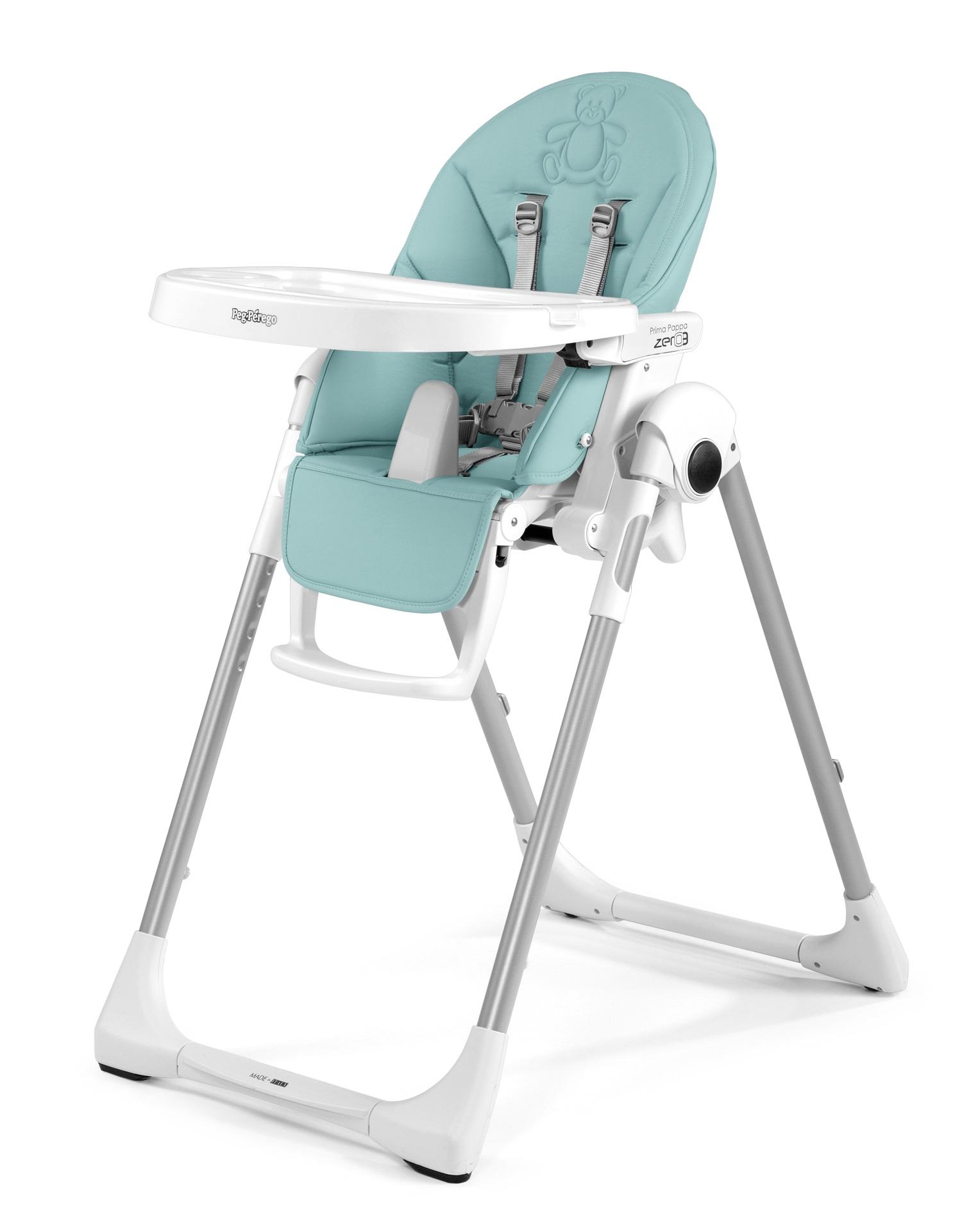 Peg perego high chair prima pappa zero3 2018 bear azul - Chaise haute peg perego siesta ...