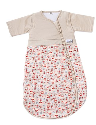 Gesslein Sleeping Bag Bubou, Owls -  * Cute little owls accompany your little one through the night. The elegant design is rich in details and will delight mom and dad too.