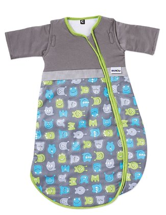 Gesslein Sleeping Bag Bubou, Monsters - The Gesslein sleeping bag is the ultimate must-have accessory for your child's nursery.