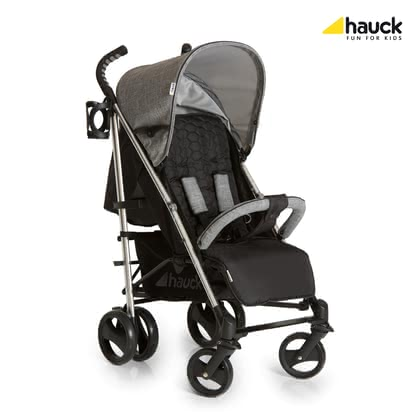 Hauck Buggy Vegas -  * The stylish Hauck Buggy Vegas offers high comfort while scoring with versatile features such as the aluminium chassis, elegant honeycomb-patterned fabrics, a chic bottle holder as well as a push bar with grips that fit perfectly to the hand.