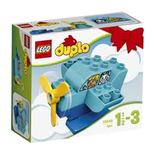 LEGO Duplo My first plane - * After having landed the first plane by LEGO Duplo, it can be rebuilt as helicopter or boat.