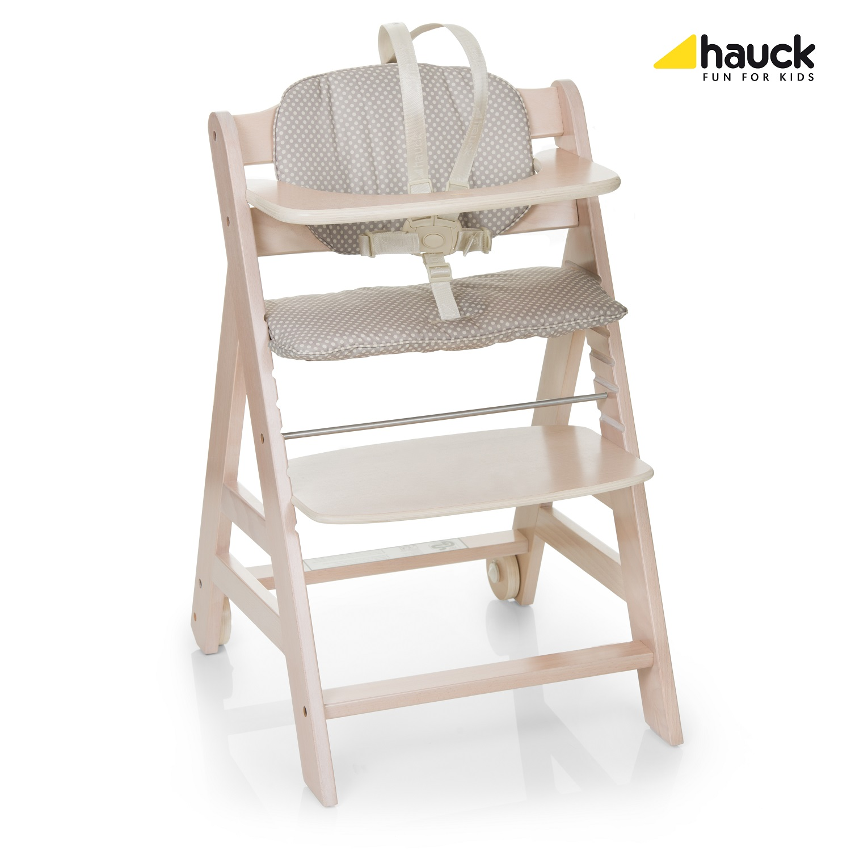 hauck high chair beta 2018 whitewashed dots buy at kidsroom nursing feeding. Black Bedroom Furniture Sets. Home Design Ideas