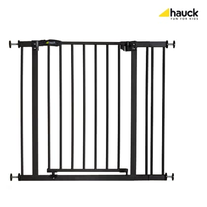 Hauck Baby Gate Close'n Stop including 9 cm extension -  * With the Hauck Baby Gate Close'n Stop +9 you can create a safe and protected environment at home for your children as well as for your pets. The baby gate comes with a 9 cm extension which makes it suitable for door frames and banisters with openings of 75 to 90 cm wide.