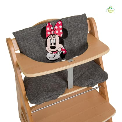 Disney High Chair Seat Pad Deluxe Mickey & Minnie -  * The ultra-comfy High Chair Seat Pad Deluxe features Disney's Mickey & Minnie. Used either as a comfy padding or seat insert this seat pad is suitable for the Hauck Wooden High Chair Alpha + or similar high chair types.