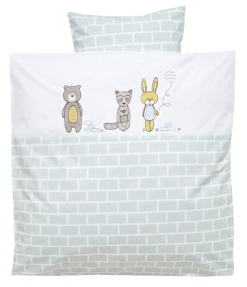 Alvi® Bed Linen – 80 x 80 cm -  * The beautiful bed linen by Alvi will make your little sweetheart sleep peacefully at all times.