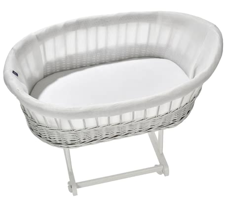 "Alvi Knitted Fabric Protection for Bassinet ""Birthe"" -  * With this innovative knitted fabric protection cover for your bassinet ""Birthe"" your little one will sleep like on a cloud."