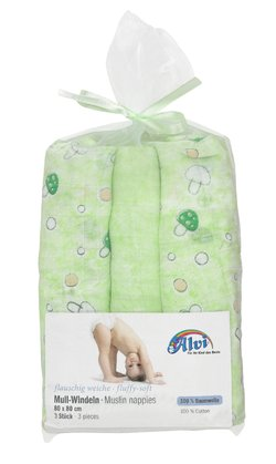 Alvi Gauze Nappies – 3 Pack with Organza Bag -  * The soft and absorbent gauze nappies by Alvi will make your little one feel comfortable and snug.