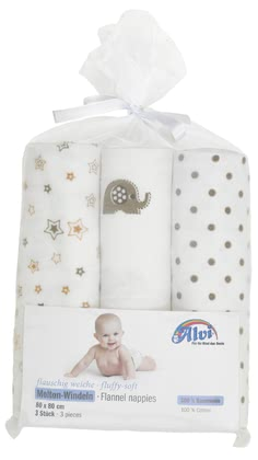 Alvi Molton Nappies – Pack of 3 -  * ✓ boil-proof – washable up to 95 °C ✓ extra absorbent, clinically proven & skin-friendly ✓ fluffy & soft ✓ size: 80 x 80 cm