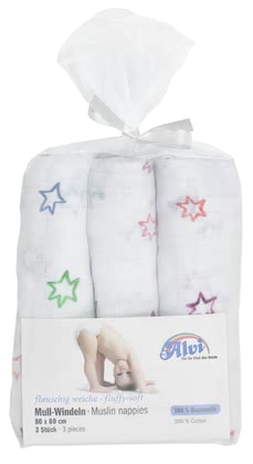 Alvi Gauze Nappies – 3 Pack -  * The soft and absorbent gauze nappies by Alvi will make your little one feel comfortable and snug.