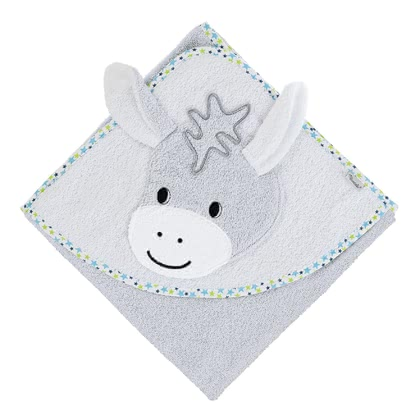 Sterntaler Hooded Towel with Large Motif - * – This soft bath robe is made of 100% cotton and a real eye-catcher.