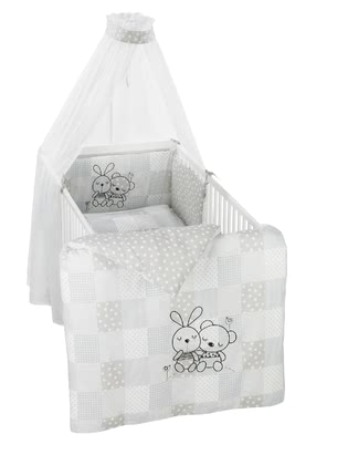 "Alvi Bedding Set ""Rabbit"" -  * The Alvi Bedding Set ""Rabbit"" creates a cosy and harmonious atmosphere in your little one's nursery.*"