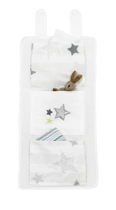 "Alvi Organiser ""Silver Star"" -  * Do you need some extra space to store your little one's essentials in the nursery or in the bathroom? The practical Alvi Organiser ""Silver Star"" is the right accessory for you!"