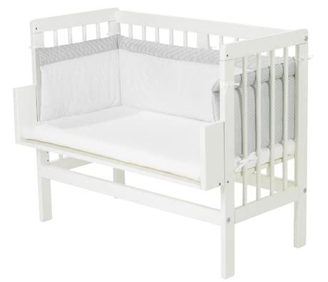 "Alvi Cot Bumper ""Little Dots"", Grey, for Cot/ Extra Bed -  * With the Alvi Cot Bumper your child will sleep safe and cuddled up in his or her cot."