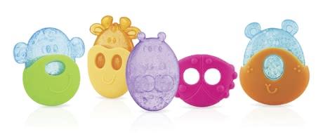 Nuby Cooling Teether with Protective Case -  * Cute little animals such as a giraffe, beetle or monkey come in super handy since they help to soothe your child's teething pains.