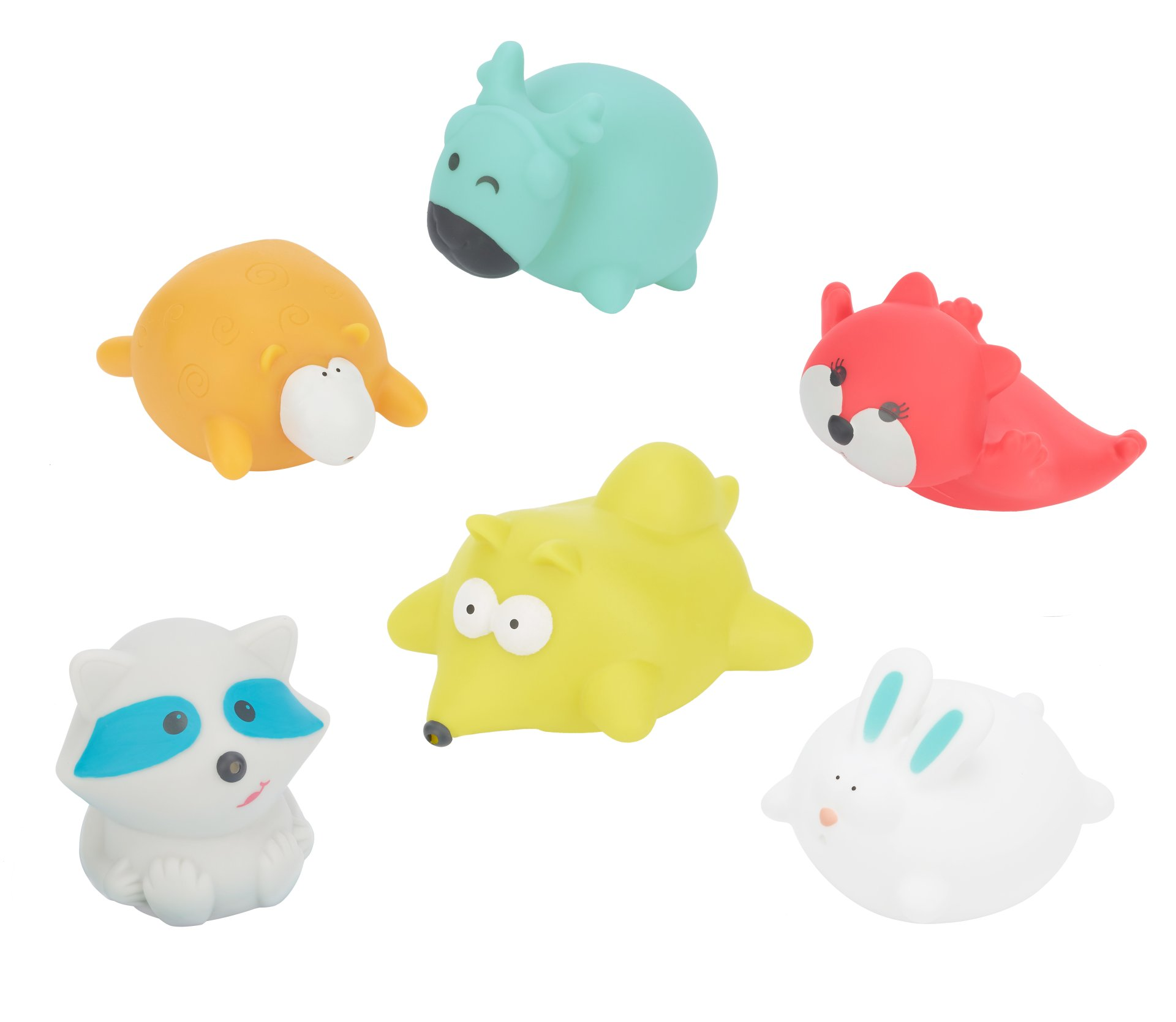 Badabulle Bathing Animals Forest 6 Pieces Buy At