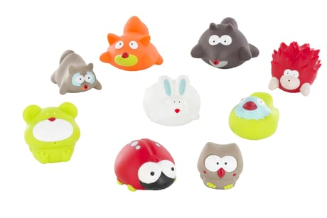 "Badabulle Bathing Animals ""Forest"" – 6 Pieces -  * Splashing water and playing happily in the bathtub is one of small children's most favourite things. Badabulle's bathing animals ""Forest"" will turn every bathing session into the utmost fun for your child."