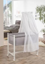 Geuther Bassinet Jasmin, White & White Canopy 1117-WE