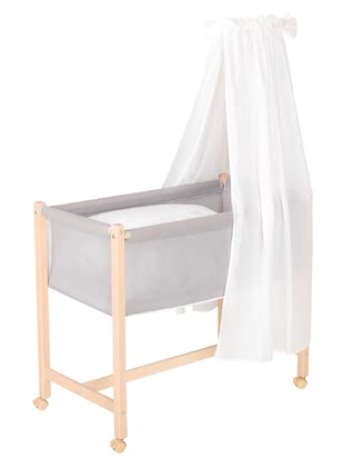 "Geuther Bassinet Jasmin, Natural Coloured -  * Geuther's bassinet ""Jasmin"" comes with a new extraordinary design that will instantly delight you and your little one."
