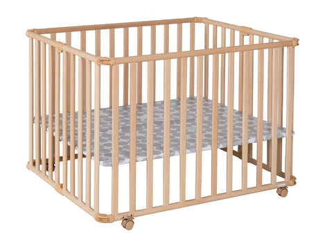 Geuther Playpen Ameli, Natural Coloured -  * A great companion that helps your ease everyday life is the new playpen by Ameli von Geuther. Along with the floor it can be collapsed into a small size in no time at all.