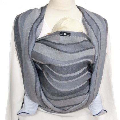 DIDYMOS Baby Sling – Jacquard Waves Silver -  * Being near to their mama or papa is the most beautiful thing for babies. Being even closer will be made possible with one of the Didymos baby wrap slings.