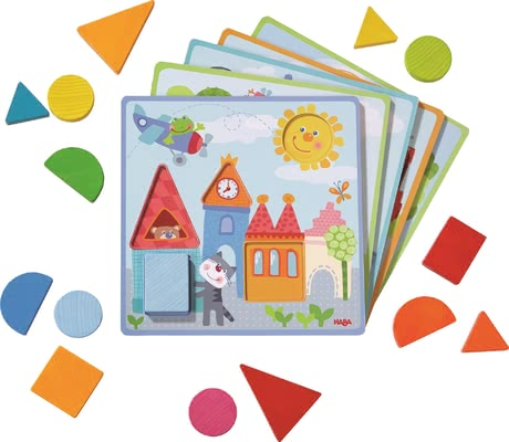 "Haba Matching Game ""Animal Adventures"" -  * Haba's matching game ""Animal Adventures"" supplies your child with many new challenges while matching the different shapes and pieces."