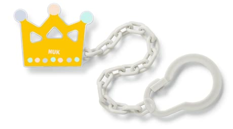 NUK Soother Chain -  * This lovely Soother Chain by NUK ensures that your little one's favourite soother is easy to reach at any time. If fastened properly the soother will neither get lost nor fall on the floor. Due to a practical clip which can be opened and closed easily you can attach the chain to your child's clothing without any effort.