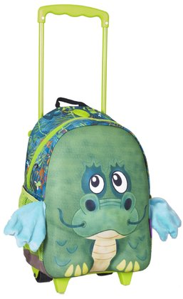 Okiedog Wildpack Junior Trolley M -  * The trendy Okiedog Wildpack Junior Trolley M will make your little adventurer stand in the centre of attention. The trolley's front section features animal characters in a 3D look and plushy details that oomph up this trolley and turn it into an eye-catching companion.
