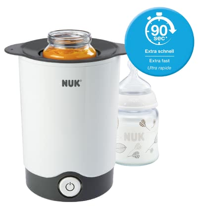 NUK Thermo Express Bottle Warmer -  * Simple and fast, the NUK Thermo Express Bottle Warmer warms up the food of your baby gently. Not too hot, not too cold – in just 90 seconds the milk will be gently warmed to the right temperature and all the important nutrients and vitamins are retained.
