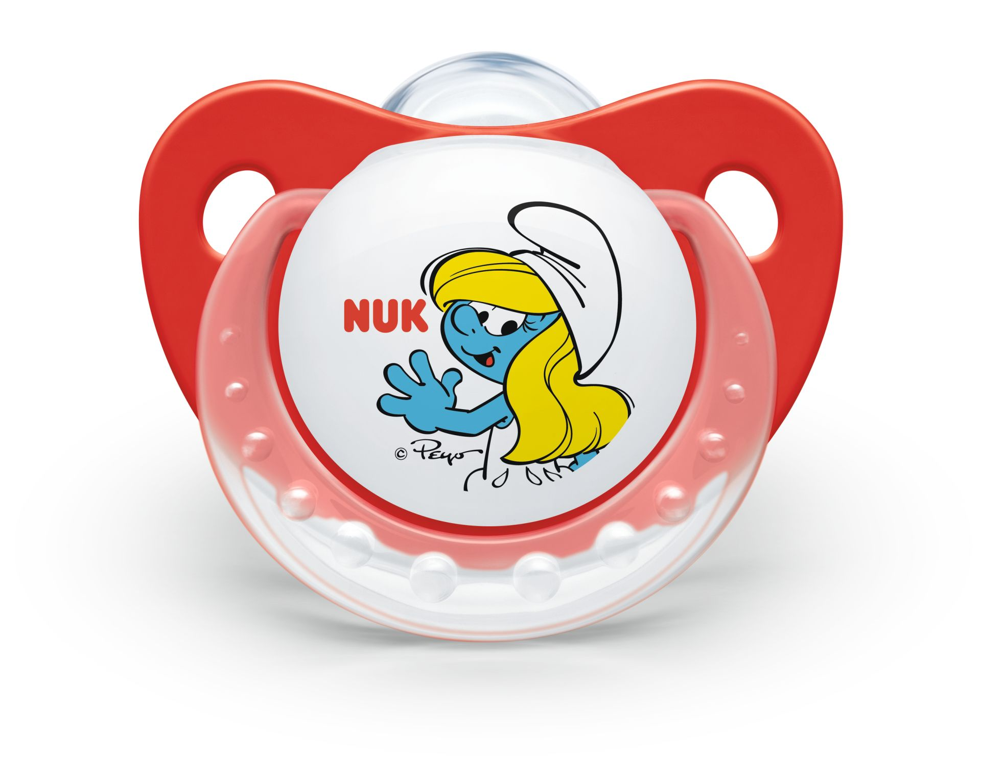 Nuk Soother The Smurfs Trendline Wei 223 Rot Gr 246 223 E 2 6 18