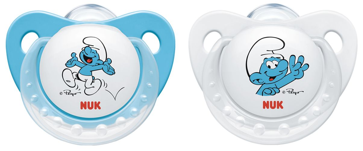 Nuk Soother The Smurfs Trendline Wei 223 Blau Gr 246 223 E 1 0 6