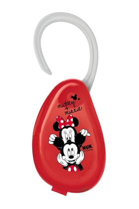 NUK Disney Mickey Soother Box -  * Practical and hygienic in one – the NUK Disney Mickey Soother Box. Matching the Disney collection this red box with its cute Mickey and Minnie Mouse design stores up to two soothers.