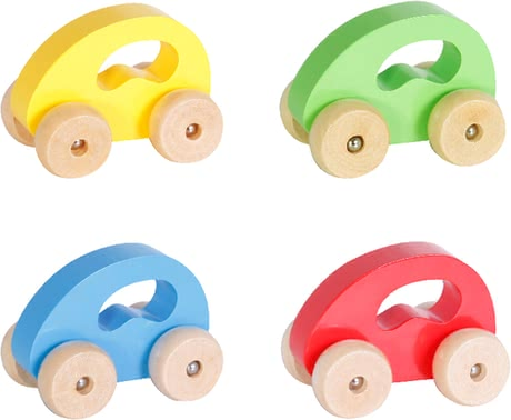 SpielMaus Wooden Toy Car -  * Vroom, vroom, vroom – children love to race through the nursery with this cute wooden toy car.