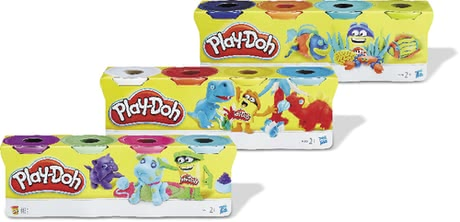 Play-Doh 4-Pack -  * The popular modelling compound in a practical 4-part set – available in basic colours or in assorted colours.