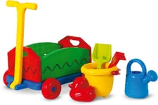 Outdoor Active Pull Along Cart with Sand Toys -  * Digging, burrowing and experimenting in the garden for hours are particularly popular activities for children. The colourful set by Outdoor Active that features a pull along cart and various sand toys will delight your little gardener instantly and leaves nothing to be desired.