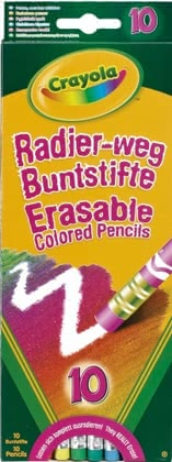 Crayola Erasable Coloured Pencils -  * Very often, kids are disappointed when they make a mistake while drawing or writing. With Crayola's erasable coloured pencils this situation belongs to the past.