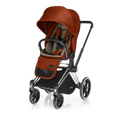 Cybex Platinum Stroller PRIAM incl. Lux Seat Autumn gold_ burnt red 2017 - large image