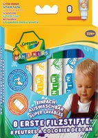 Crayola First Markers -  * These amazing markers by Crayola have been developed specifically for the smallest among us. Eight vividly coloured markers that feature a rounded tip ensure safe and secure painting.
