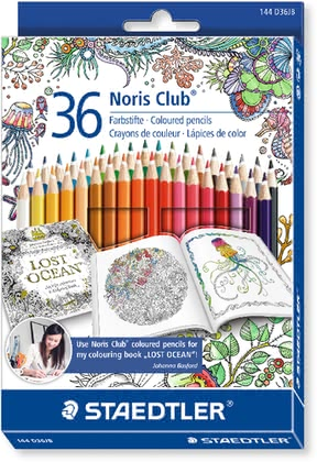 Staedtler colored crayons Noris Club box with 36 pieces 2017 - large image