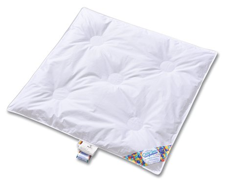 AroArtländer CosySan Duvet according to safety EU standard -  * The AroAtländer CosySan duvet corresponds with the overheat protection TOG of the new EU standard for baby bedding.