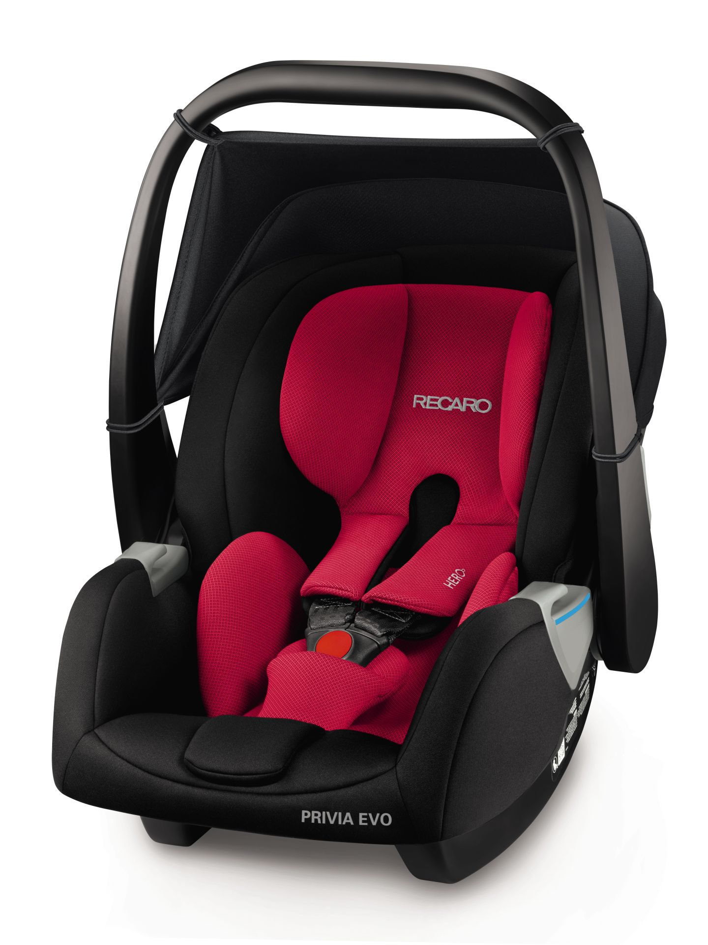 recaro infant car seat privia evo including smartclick base 2018 racing red buy at kidsroom. Black Bedroom Furniture Sets. Home Design Ideas