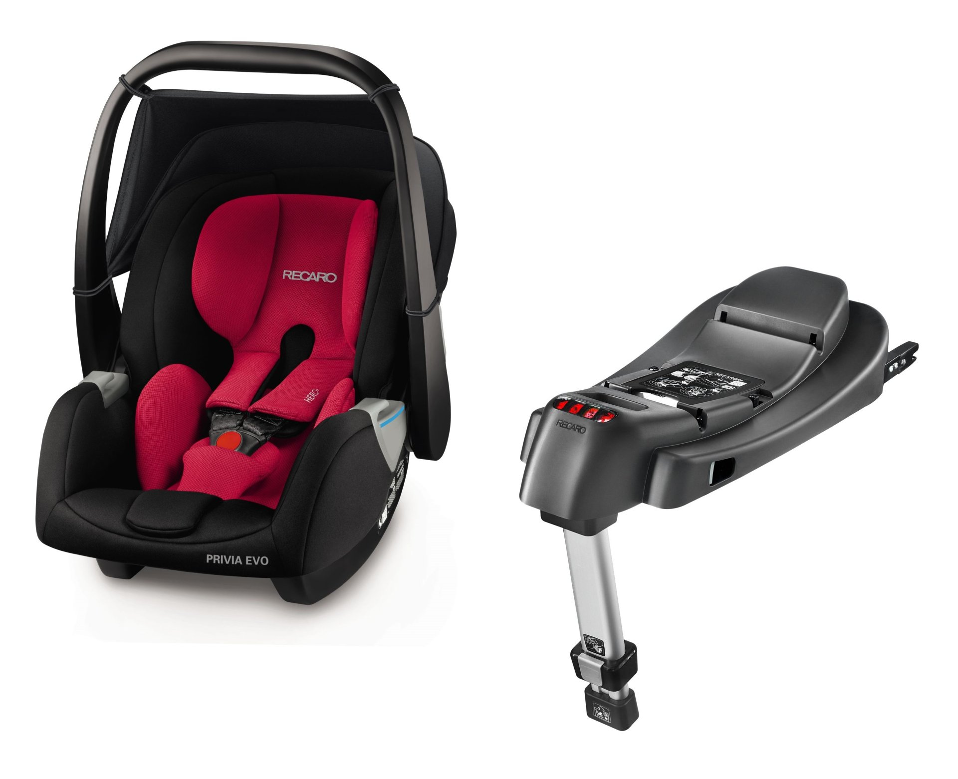 Recaro Infant Car Seat Privia Evo Including SmartClick Base Racing Red 2018