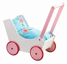 "Haba Doll's Pram ""Flowers"" - Haba's doll's pram guarantees long-term fun for all little doll mummies."