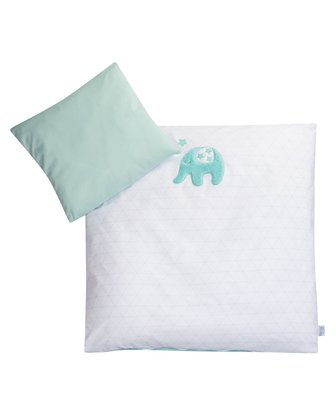 Zöllner Bed Linen Jumbo -  * This premium bed linen set by Zöllner supplies your child with relaxed and peaceful nights. The rare Jumbo design features cute elephant appliqués as well as subtle colours on an elegant white background.