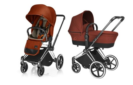 Cybex Platinum Stroller PRIAM incl. Lux Seat and Carrycot -  * The PRIAM in its various chic and trendy designs is ready for you to use as a full size stroller set right from birth onwards.
