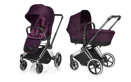 Cybex Platinum Stroller PRIAM incl. Lux Seat and Carrycot Mystic Pink_purple 2017 - large image